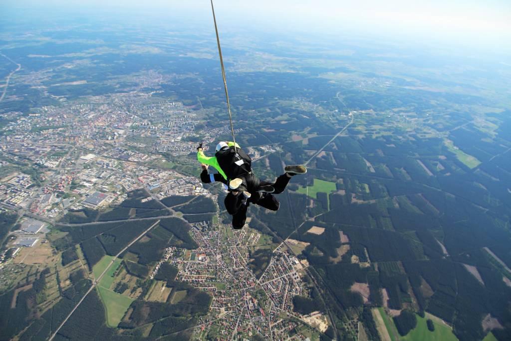 Skok na spadochronie - panorama