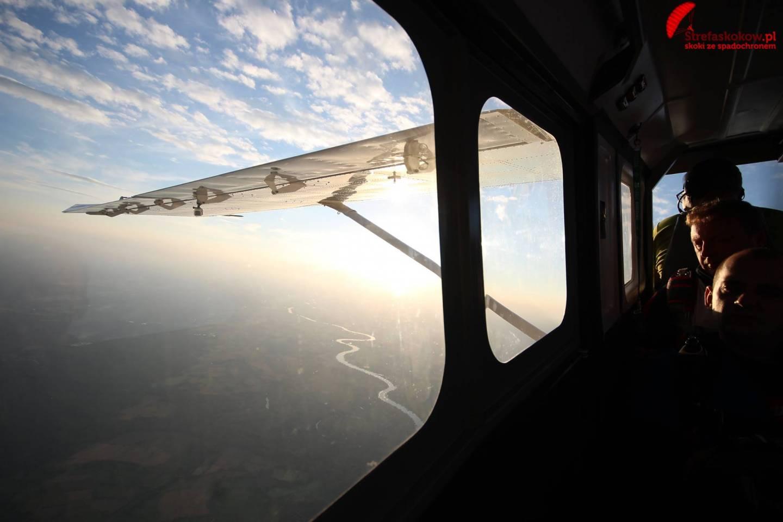 Widok z samolotu podczas skoku