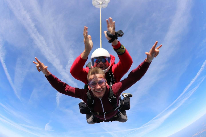 Pierwszy skok z spadochronem