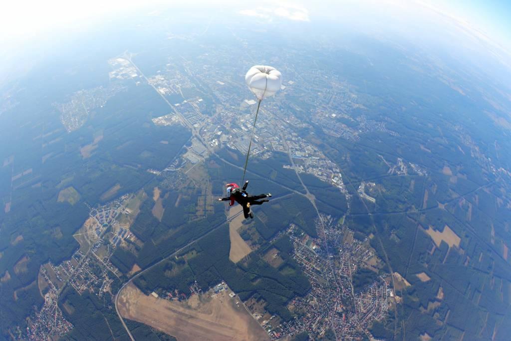 Strefaskokow.pl - dwa spadochrony